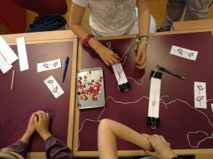 Atelier shamballa à la bibliothèque