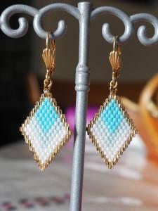 """Boucles d'oreilles d'après des modèles """"Diamond"""" sur Pinterest"""